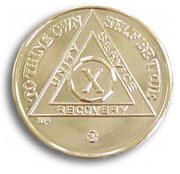 Gold Plated Anniversary AA Medallion