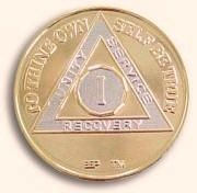 Anniversary Gold and Nickel Bi Plated AA Medallion