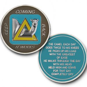 Sober Camel Teal Tri-Plated AA Coin