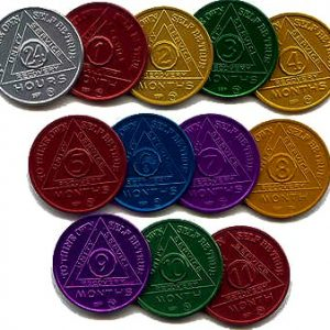 Aluminum Anniversary AA Medallions