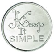 Keep It Simple Bronze Recovery Coin