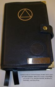 AA Custom Leather Double Book Cover for Big Book and 12 &12