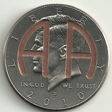 Old School Milestone AA Coin with selection of year