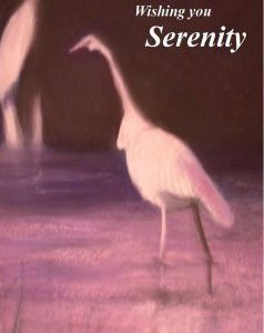 Recovery Greeting Cards - Wishing You Serenity