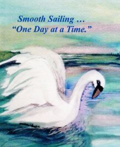 Recovery Greeting Card  Smooth Sailing-One Day at A Time