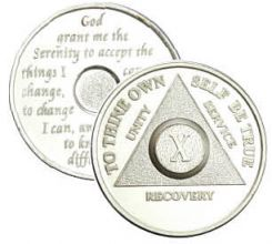 .999 Sterling Silver Anniversary AA Coin