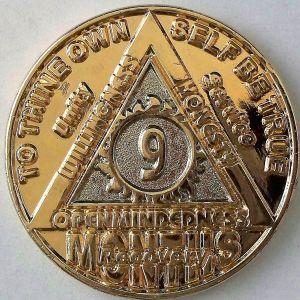 Anniversary Months Gold & Nickel Bi-plated AA Medallion