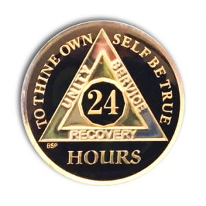 BSP-24 Hour Tri-Plated AA Coin