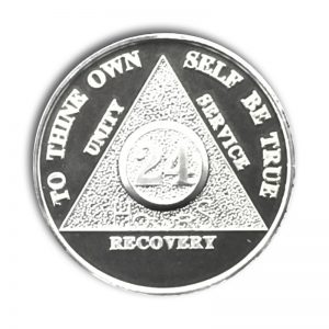 999 Sterling Silver 24 Hour AA Coin