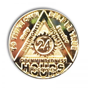 24 Hour Gold Plated Sunlight of the Spirit AA Coin
