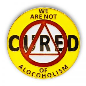 AA We are not cured - Daily Reprieve Coin from pg 85