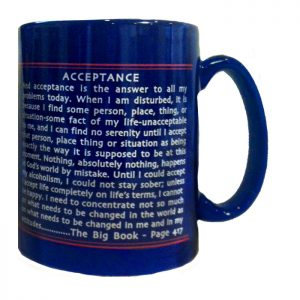 AA Acceptance is the answer Coffee Mug