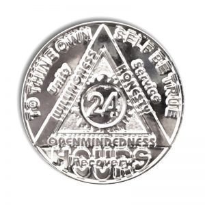 24 Hour Nickel Plated Sunlight of the Spirit AA coin