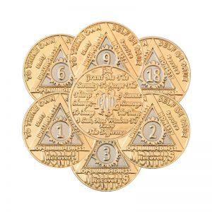 Anniversary Months Sunlight of the Spirit Bi-plated AA Coin
