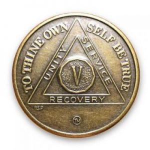 Anniversary Antique Bronze AA Medallion