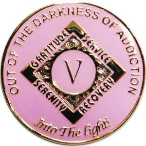 Anniversary NA Millennium Coin-Pink