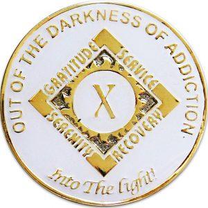 Anniversary NA Millennium Coin-White