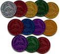 Aluminum Anniversary AA Medallions & Plastic AA Chips/tokens