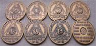 Antique Bronze AA Coins