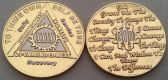 Silver & Gold Plated AA Coins
